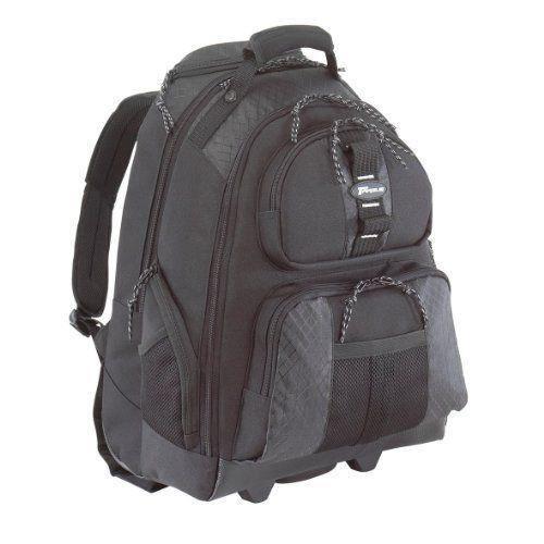 Targus TSB700EU Rolling Notebook Backpack 15.4 Sac à  dos pour ordinateur portable Noir / Platine