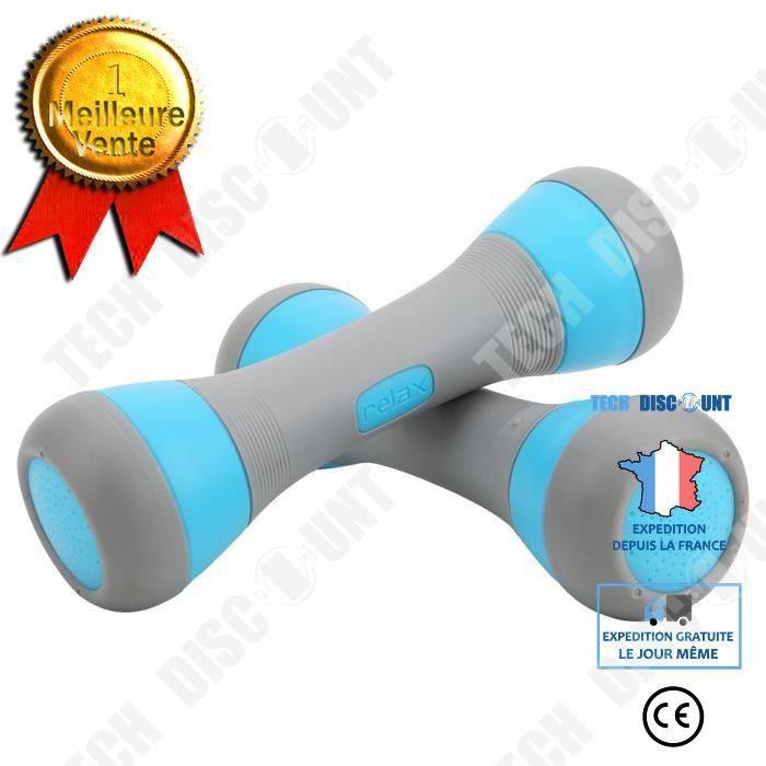 TD® Petit Haltères de Yoga Accessoire de fitness pour femme(Bleu )