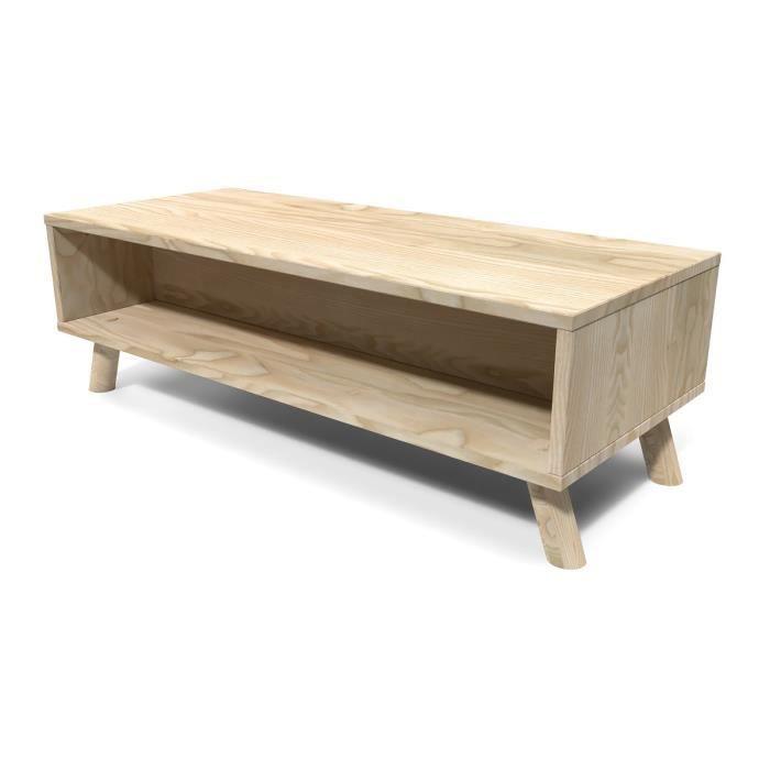 Table Basse Scandinave Rectangulaire Viking Bois Brut A Peindre Brut Achat Vente Table Basse Table Basse Scandinave Cdiscount