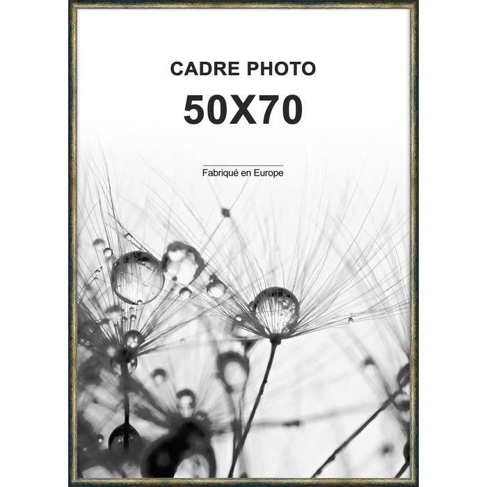 CADRE PHOTO ALTANA Cadre photo 50x70 cm Or et noir