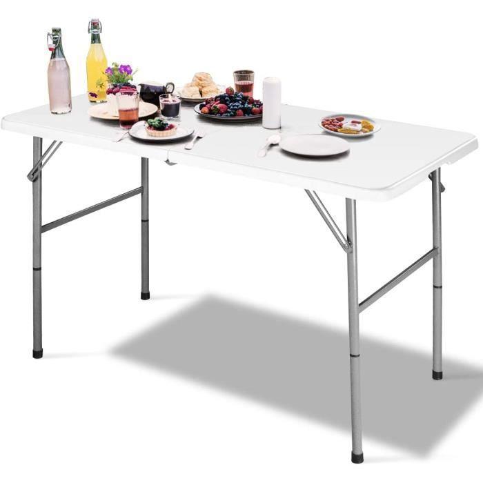 Table pliante d/'appoint Terrasse Camping Table pliante Vert Blanc Noir