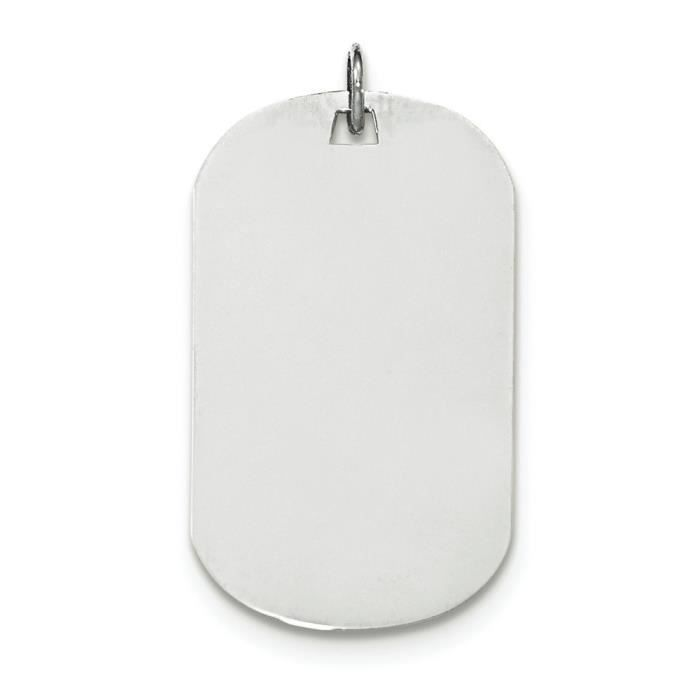 En or blanc 14 carats .018 jauge Engravable-Dog Tag-disque charme