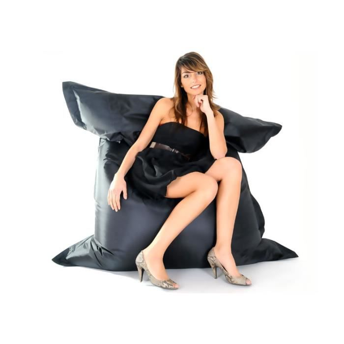pouf ext rieur outdoor xxl noir achat vente pouf. Black Bedroom Furniture Sets. Home Design Ideas
