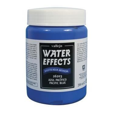 KIT PEINTURE VAL26203 - Water Effects - Pacific Blue 200ml (Min
