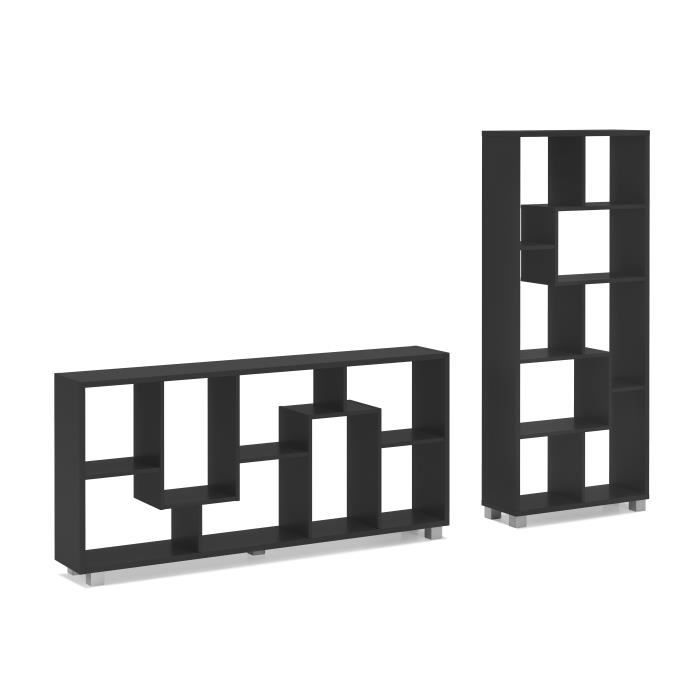 bibliotheque design achat vente bibliotheque design pas cher cdiscount. Black Bedroom Furniture Sets. Home Design Ideas