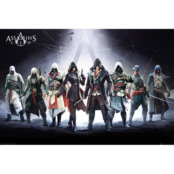 poster assassins creed achat vente poster assassins. Black Bedroom Furniture Sets. Home Design Ideas