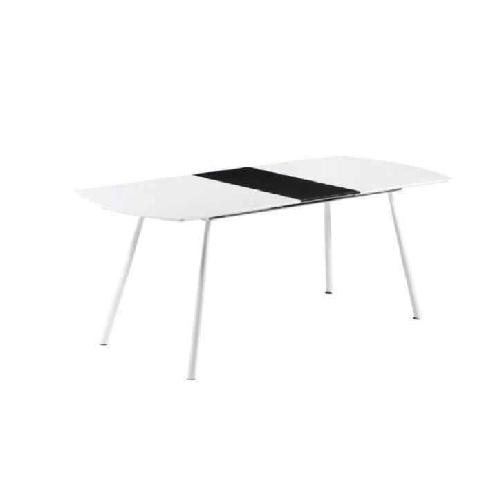 Curve table manger extensible 8 10 personnes 160 for Table extensible 2 a 8 personnes