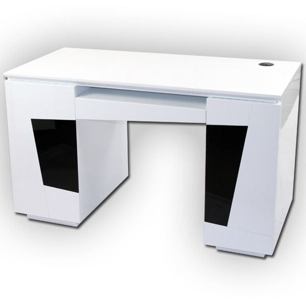 bureau laqu blanc origami achat vente bureau bureau laqu blanc origami cdiscount. Black Bedroom Furniture Sets. Home Design Ideas