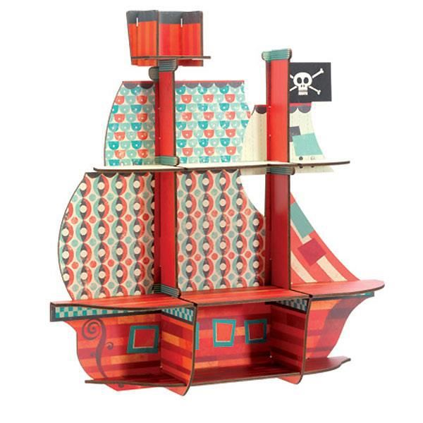etag re enfant bois bateau pirate achat vente etag re. Black Bedroom Furniture Sets. Home Design Ideas