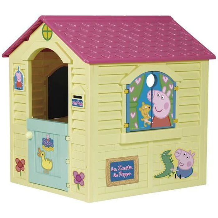 peppa pig maisonnette enfant de jardin achat vente maisonnette ext rieure cdiscount. Black Bedroom Furniture Sets. Home Design Ideas
