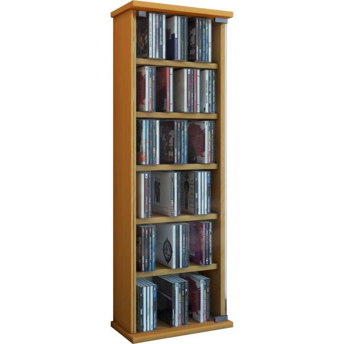Vetro commode tour rangement biblioth que cd dvd 150 cd h tre achat vente - Bibliotheque dvd meuble ...