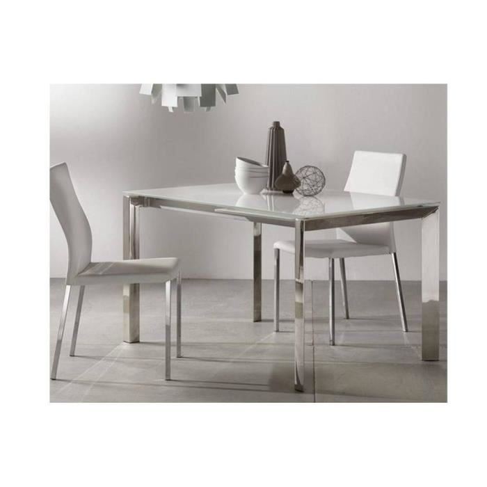 Table repas extensible titanium 160 x 90 cm ver achat for Table titanium quadra 6 personnes