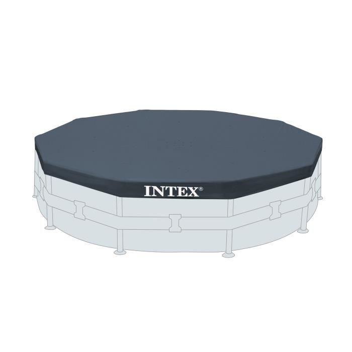 Intex b che protection pour piscine ronde 4 27 m achat for Bache pour piscine ronde