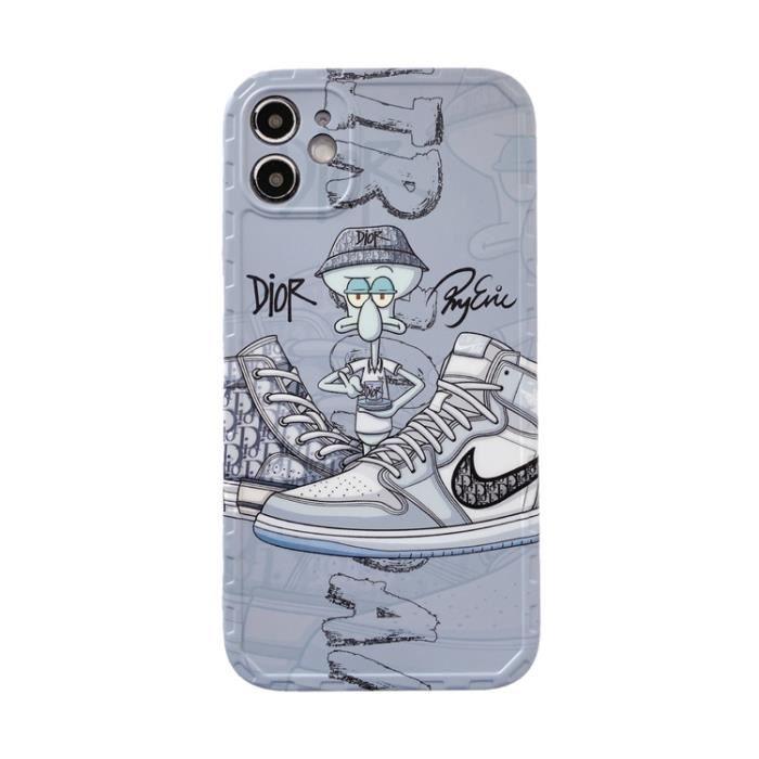 Coque iPhone 11,NIKE Dior Premium AntiChoc Souple Silicone Coque ...