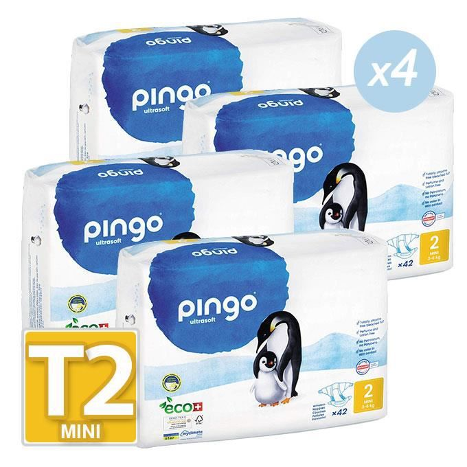 Couches PINGO Taille 2 3//6kg 168couches