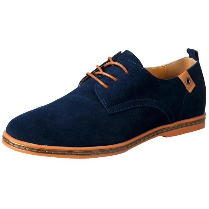 chaussures de ville homme en cuir mocassins su de oxfords cuir daim lacets derby outdoor. Black Bedroom Furniture Sets. Home Design Ideas