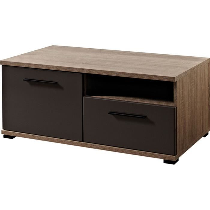 tv l ment bass avec 1 porte 1 tiroir coloris achat vente meuble tv tv l ment 1 porte. Black Bedroom Furniture Sets. Home Design Ideas