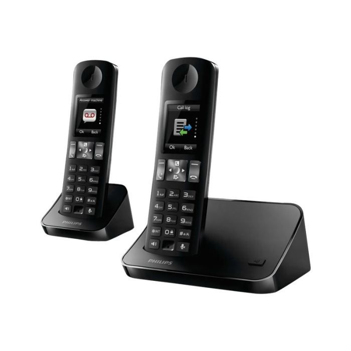 philips d600 duo t l phone sans fil avec id d 39 a achat vente combin suppl mentaire. Black Bedroom Furniture Sets. Home Design Ideas