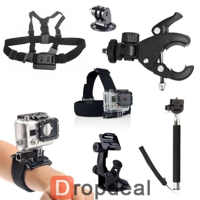 kit 7 accessoires gopro hero 2 3 4 perche harnais achat vente pack accessoires photo cdiscount. Black Bedroom Furniture Sets. Home Design Ideas