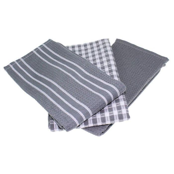 6 9 et 12 torchons de nettoyage en tissu-/éponge 100//% coton Doux au toucher Pack Of 12 Absorbants 100 /% coton Lot de 3