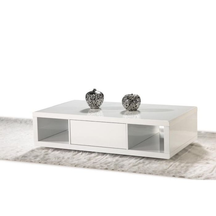 table basse laqu e blanche antares achat vente table. Black Bedroom Furniture Sets. Home Design Ideas
