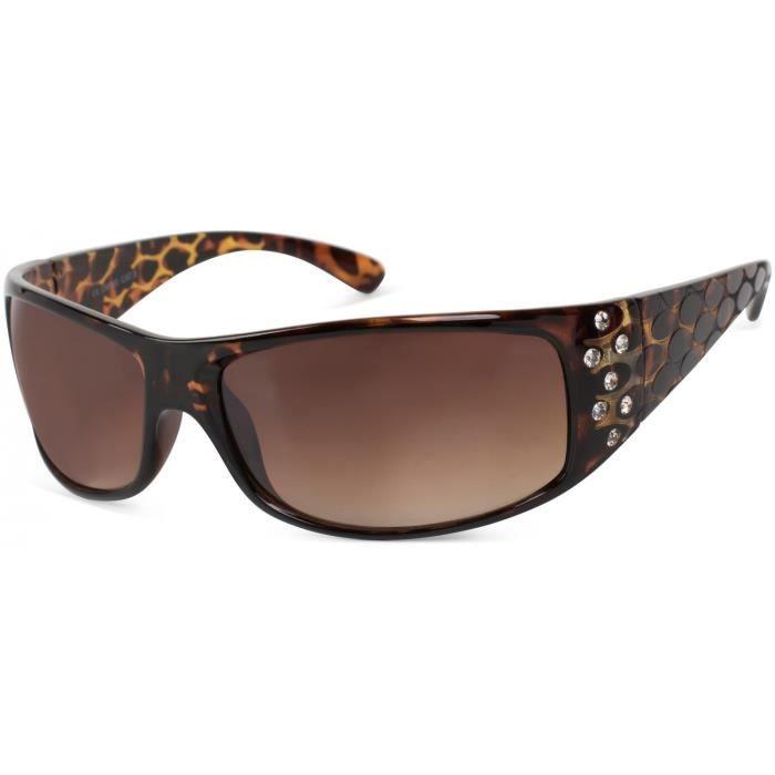styleBREAKER lunettes de soleil avec strass et branche large