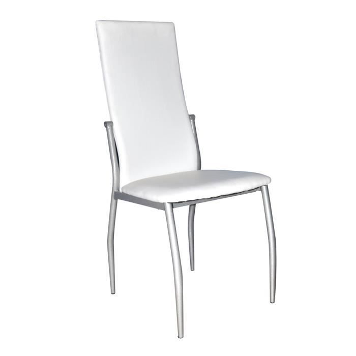 Lot de 4 chaises swithome sweety blanches achat vente - Lot 4 chaises blanches ...