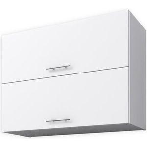ÉLÉMENTS HAUT OBI Meuble haut de cuisine L 80 cm - Blanc mat