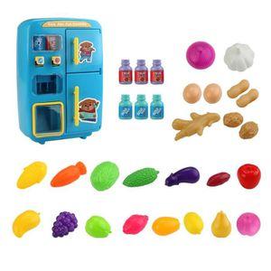 DINETTE - CUISINE 31Pcs Enfants Jouet Cuisine Vending Réfrigérateur