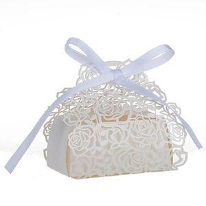 BOÎTE À DRAGÉES 25pcs Boîte à Dragées Mariage(Blanc)