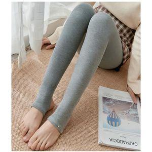 Débardeur Femmes Taille Haute Toison Legging Slim Skinny thermique épaisse Pantalon
