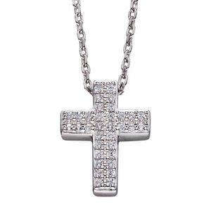 SAUTOIR ET COLLIER Mon-bijou - D4262 - Collier croix en argent 925/10