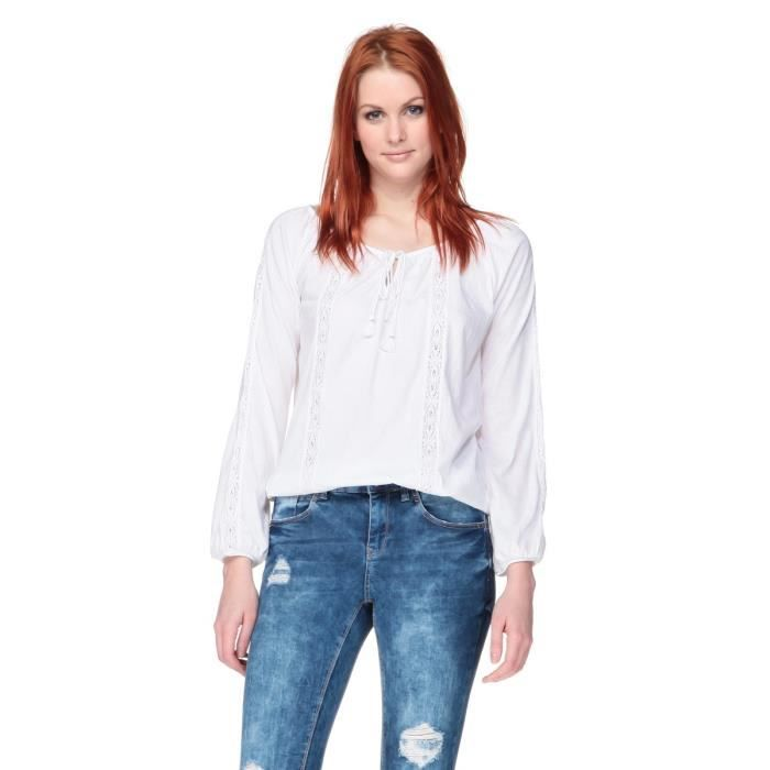 New Look Blouse Blanche Femme Blanc Achat Vente Chemisier