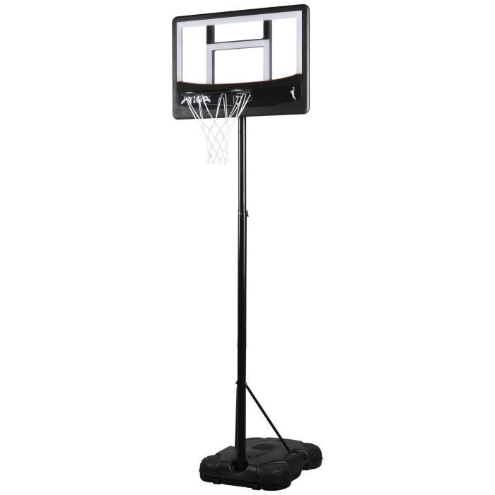 STIGA Panier de basket-ball Guard 1,65-2,2m - Noir