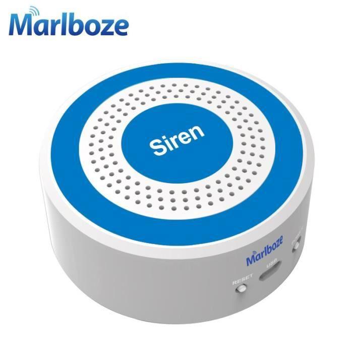 sirène sonore et lumineuse sans fil 433 mhz sirène stroboscopique de 100 db pour le système de panneaux d'alarme WIFI GSM EU plug