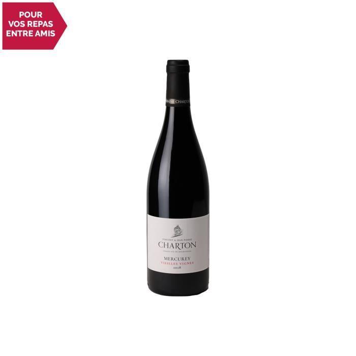 Mercurey Vieilles Vignes Rouge 2018 - 75cl - Domaine Charton - Vin AOC Rouge de Bourgogne - Cépage Pinot Noir