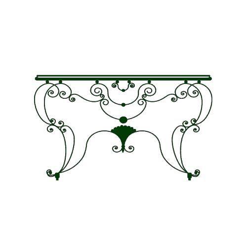 Stickers Table fer forgé Ref: ODZ2192 Vert foncé 77x112 cm 2 PARTIES