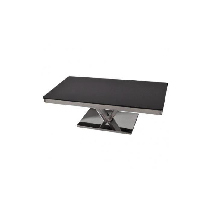 Table basse design plateau verre teint LIVELY