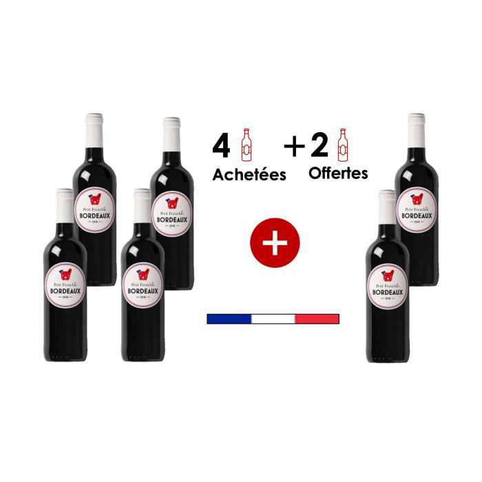 Château Machorre Le Petit Frenchie X6 2016 A.O.C Bordeaux vin Rouge Bordelais