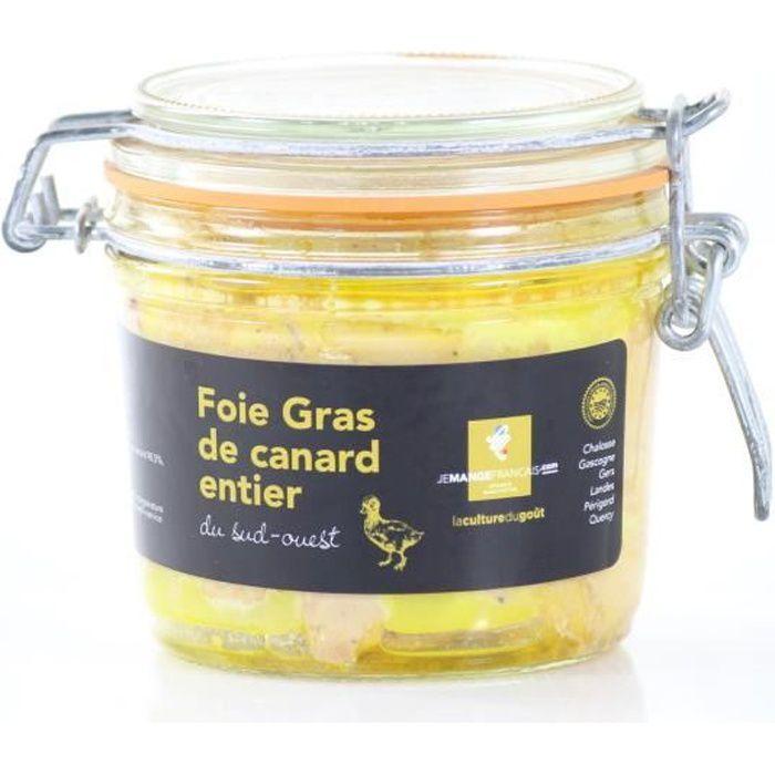 Foie Gras de canard entier du Sud-Ouest conserve de 350 g