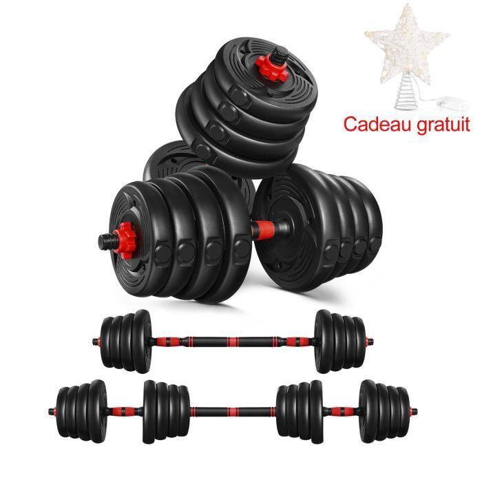 Kit Haltères - 30kg musculation réglables – poids musculation