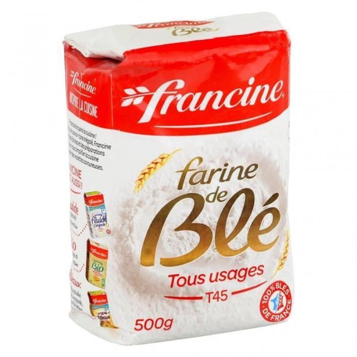 Francine Farine de Blé Tous Usages T45 500g (lot de 8)