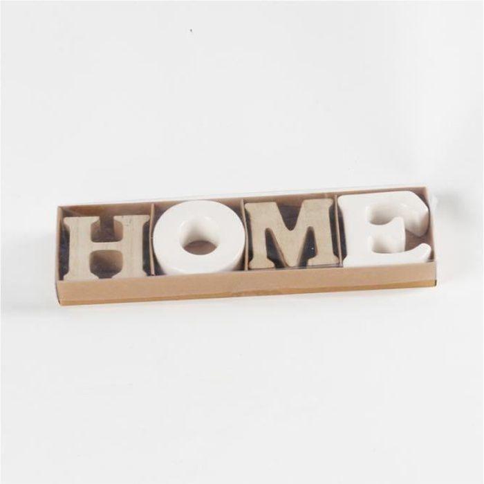 Lettre décorative HOME à poser .