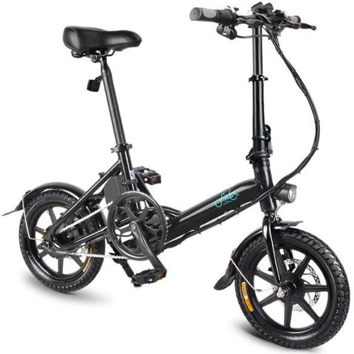 Fiido D3 Vélo Assistance électrique Intelligent Pliable Vélo alliage d'aluminium 14pouces 250W vitesse 25 km / h