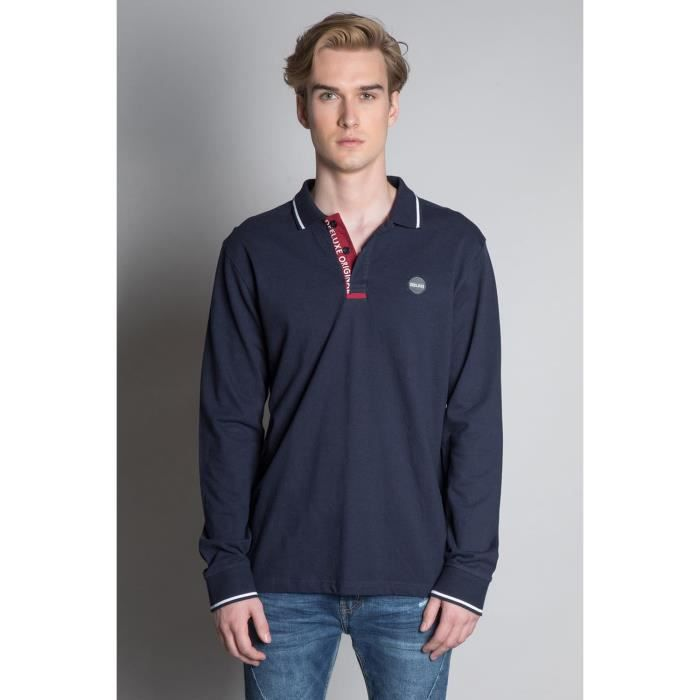 DEELUXE Polo à manches longues TOSHI Navy