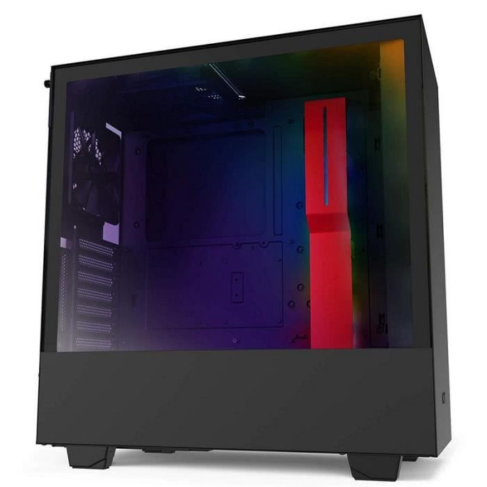 NZXT H510i Midi ATX Tower Noir, Rouge ( H510i Midi Tower RGB Gaming Case - Black/Red Tempered Glass) - 5060301695034