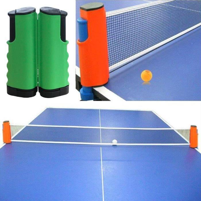 Filet de Ping Pong, Filet de Tennis de Table Rétractable pour Intérieur et Extérieur vert noir