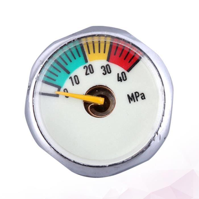 25mm haute pression manomètre 40mpa M8 baromètre d'affichage lumineux pour extincteur réservoirs d'oxygène MONTRE CONNECTEE SPORT