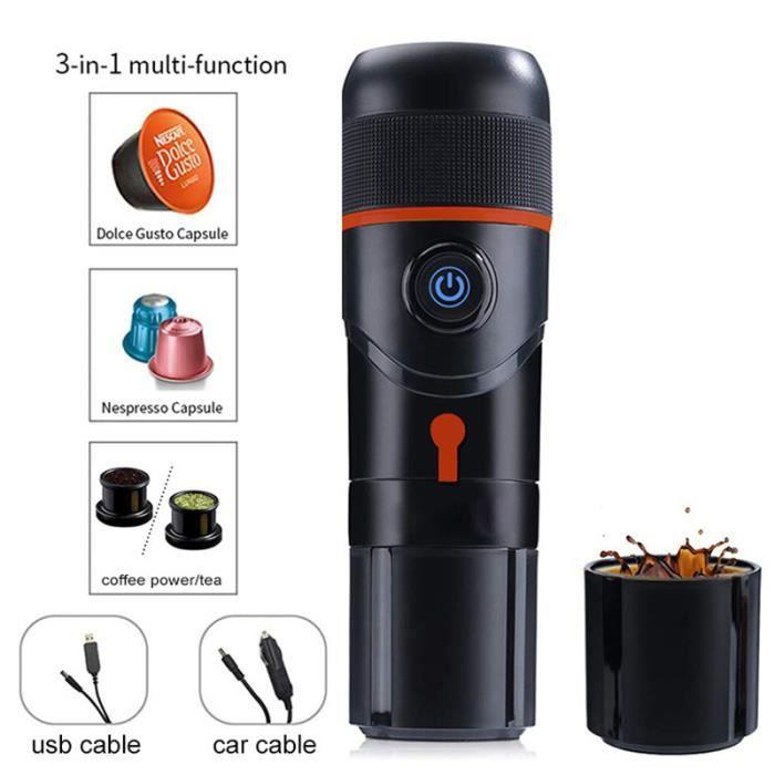 Rouge -Machine à expresso électrique, machine à café goutte à goutte pour voiture, à commande manuelle, pour les voyages extérieur