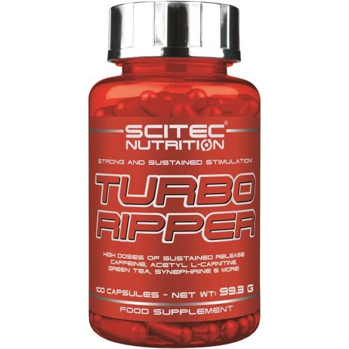 Turbo Ripper 100caps Scitec Nutrition Carnitine Thé Vert